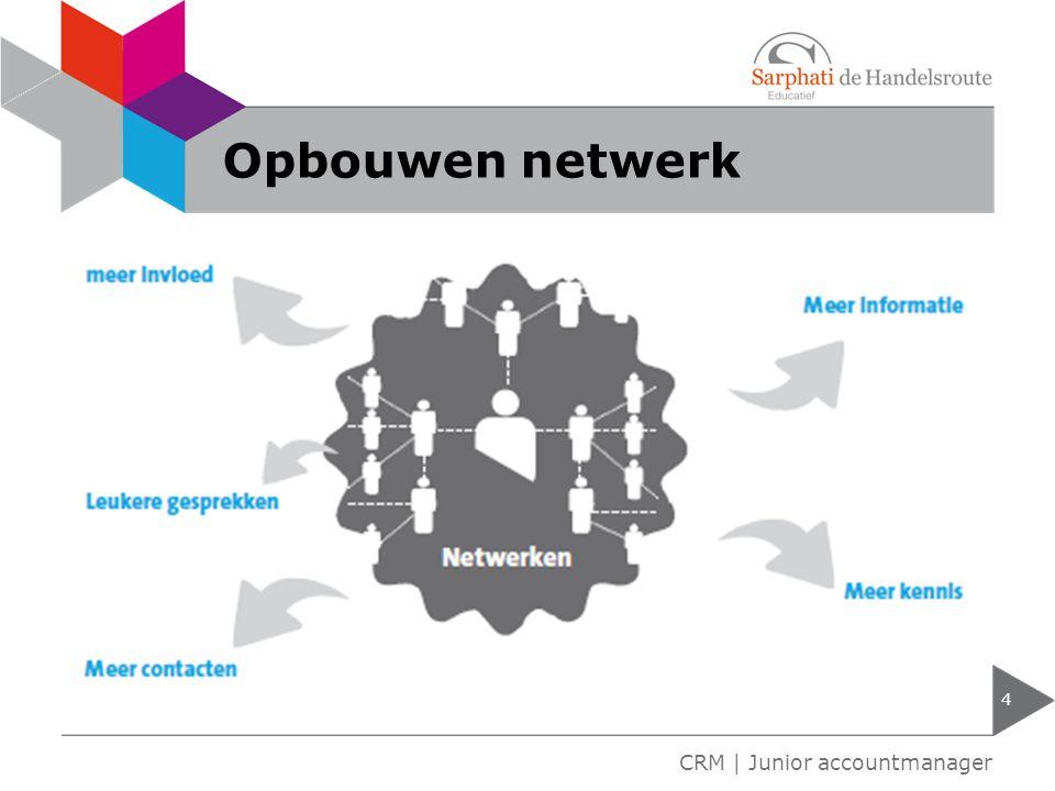 Opbouwen netwerk CRM | Junior accountmanager
