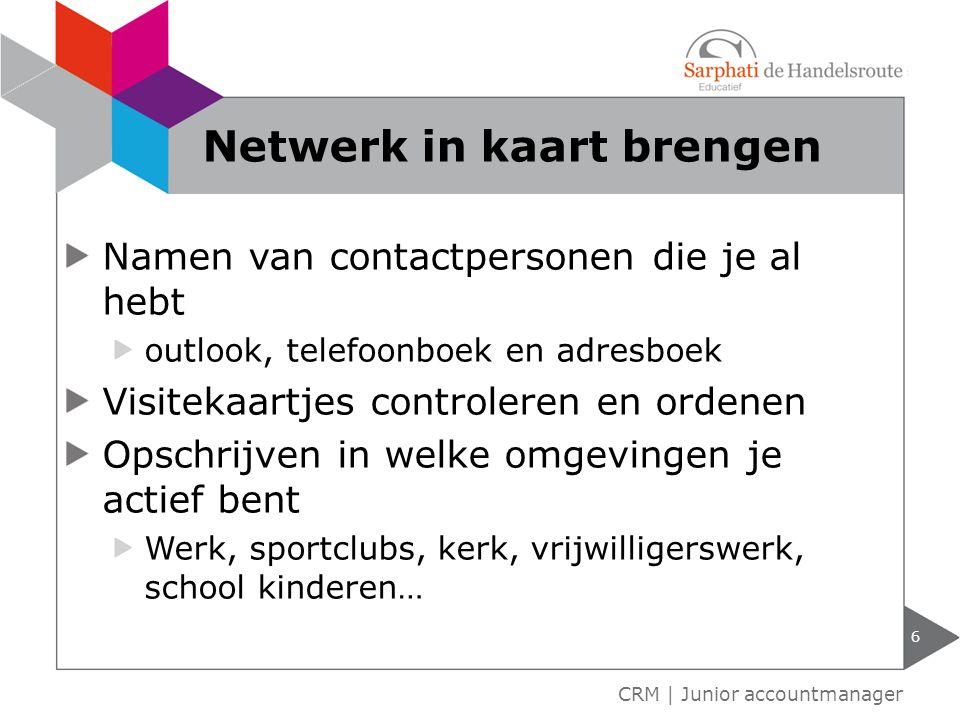 Netwerk in kaart brengen