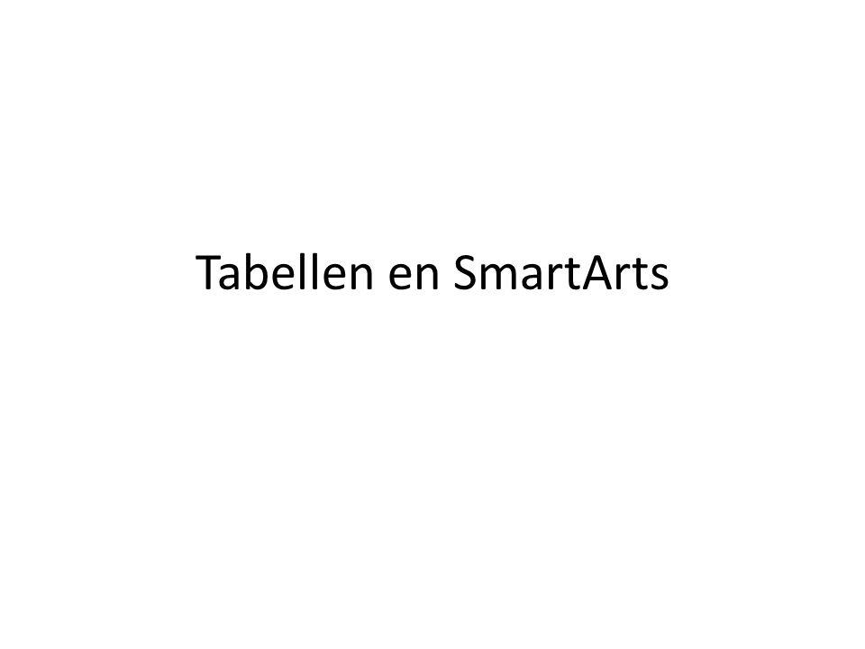 Tabellen en SmartArts