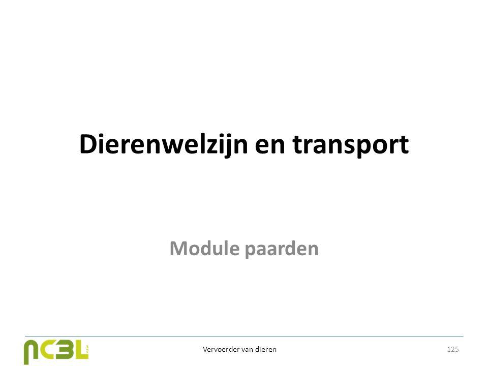 Dierenwelzijn en transport