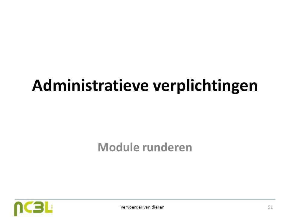 Administratieve verplichtingen
