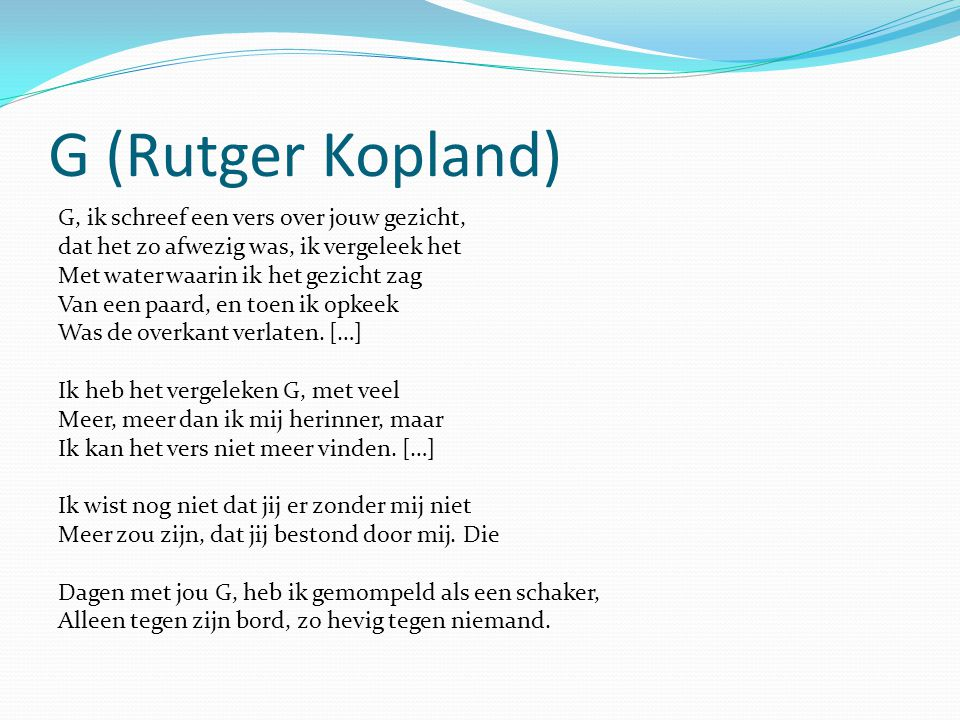 G (Rutger Kopland)
