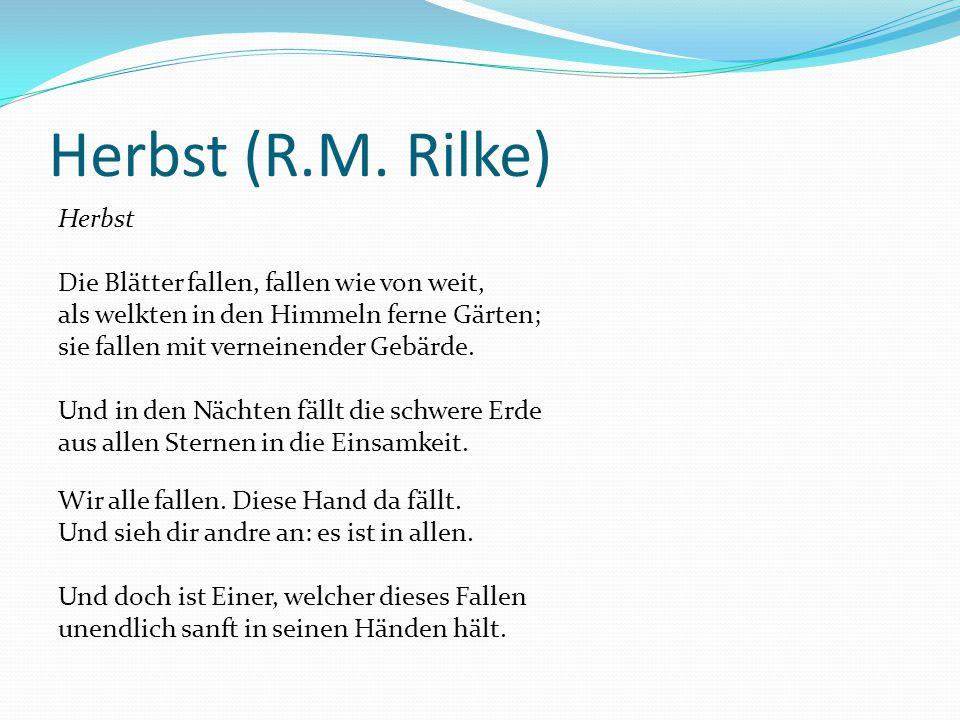 Herbst (R.M. Rilke)