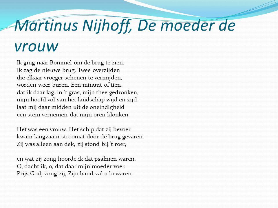 Martinus Nijhoff, De moeder de vrouw