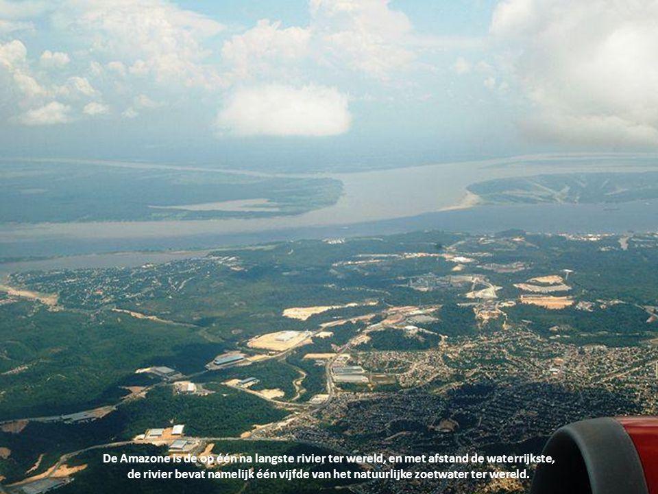 De Amazone is de op één na langste rivier ter wereld, en met afstand de waterrijkste,