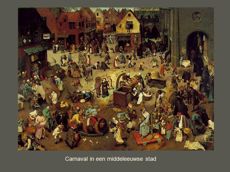 Carnaval in een middeleeuwse stad