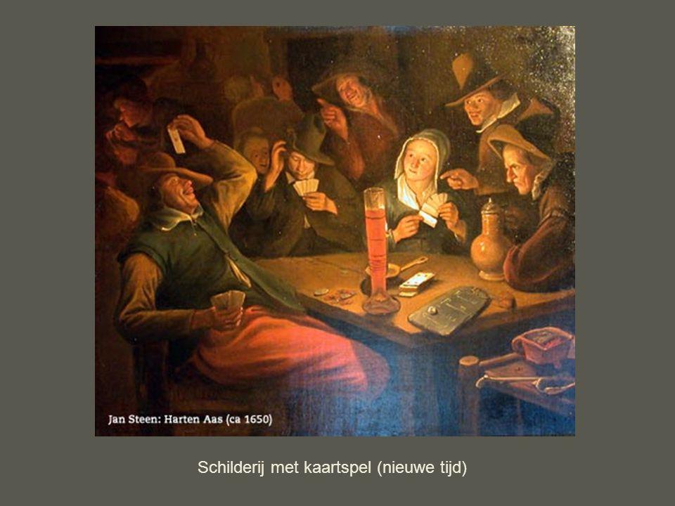 Schilderij met kaartspel (nieuwe tijd)
