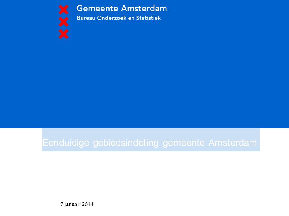 Eenduidige gebiedsindeling gemeente Amsterdam
