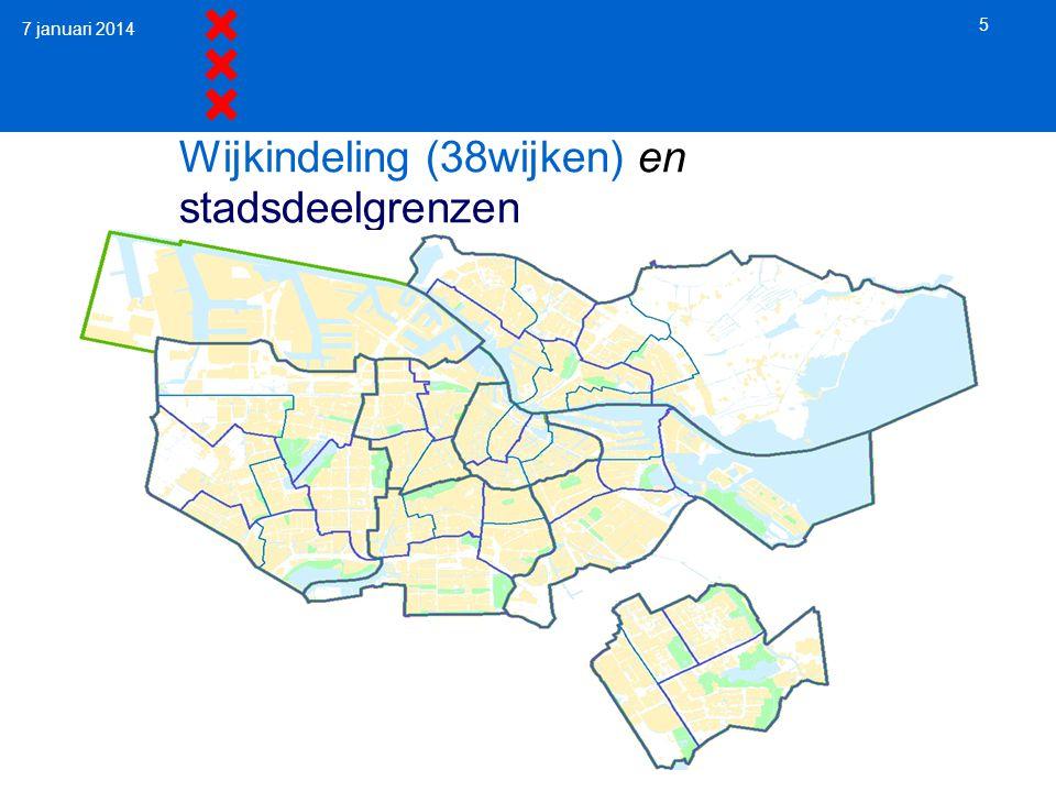 Wijkindeling (38wijken) en stadsdeelgrenzen