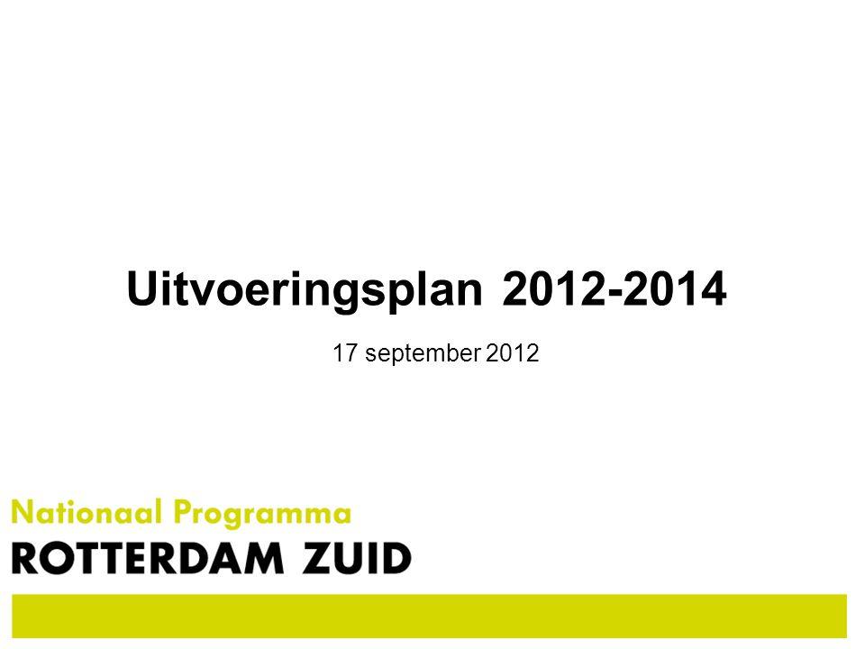 Uitvoeringsplan 2012-2014 17 september 2012