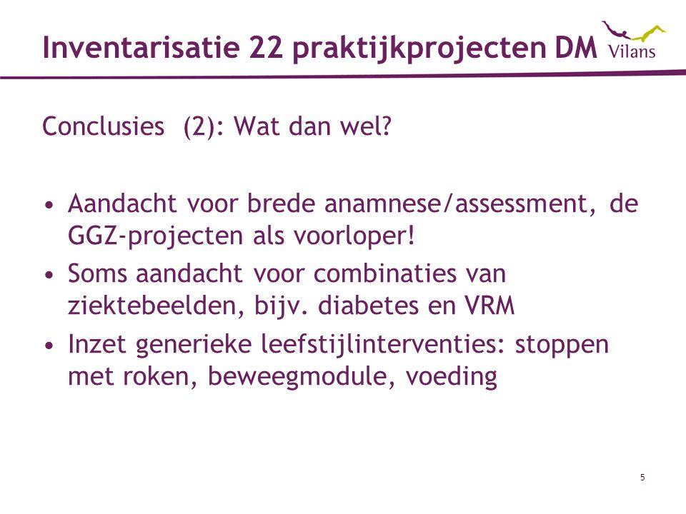 Inventarisatie 22 praktijkprojecten DM