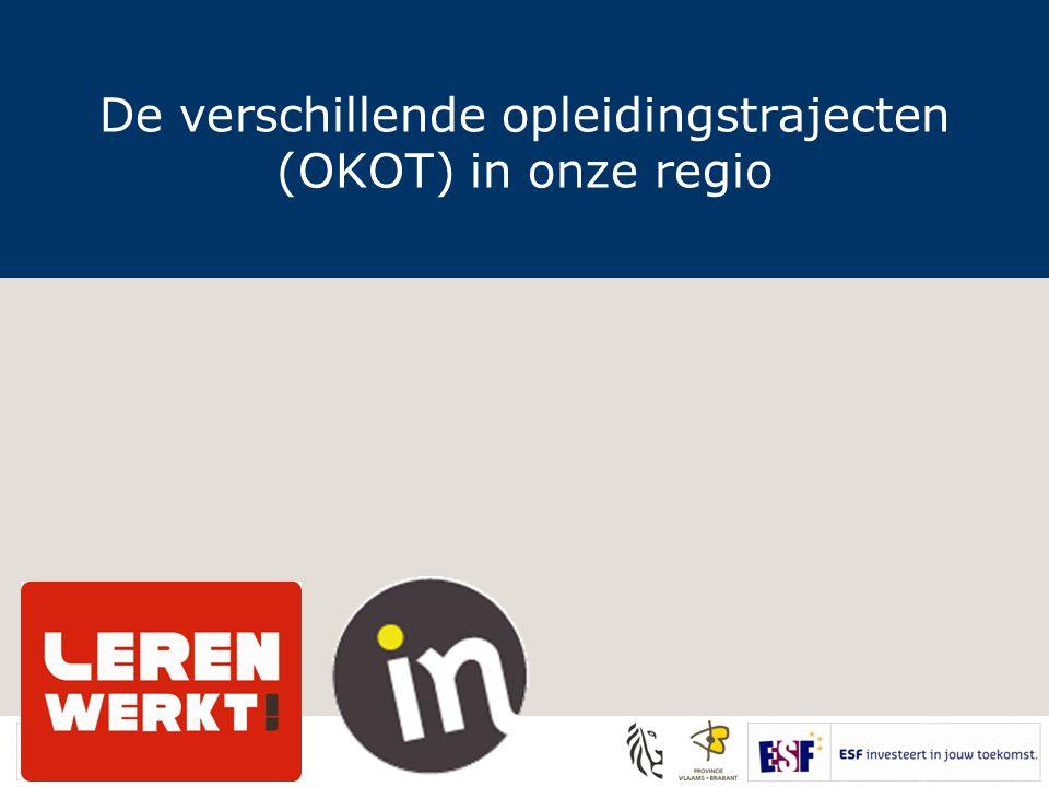 De verschillende opleidingstrajecten (OKOT) in onze regio