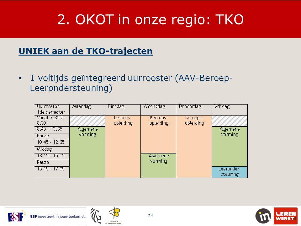 2. OKOT in onze regio: TKO UNIEK aan de TKO-trajecten