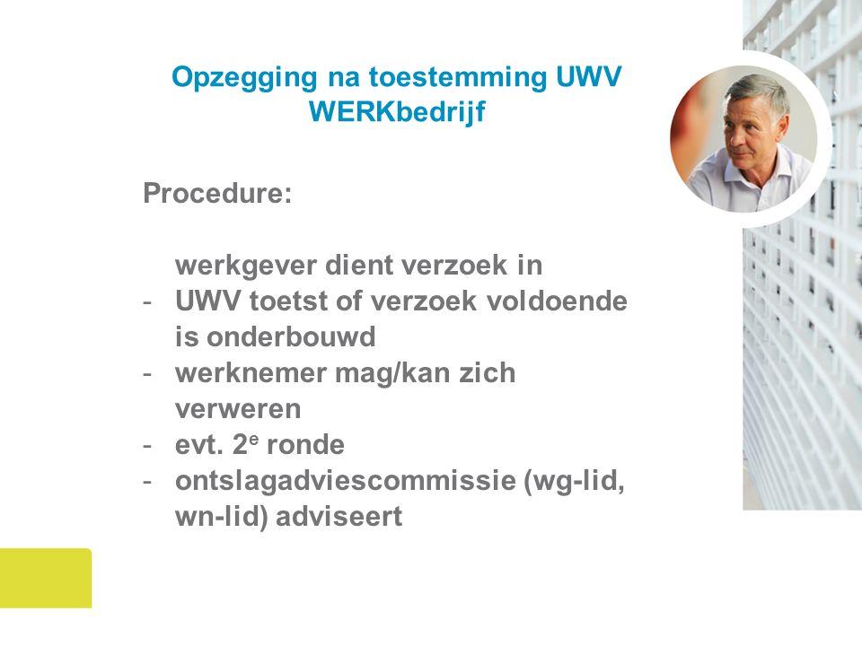 Opzegging na toestemming UWV WERKbedrijf