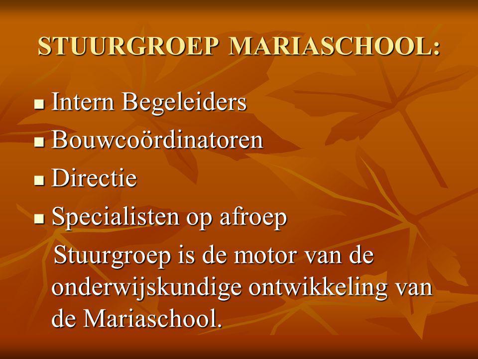STUURGROEP MARIASCHOOL: