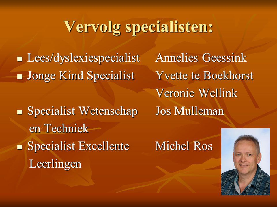 Vervolg specialisten: