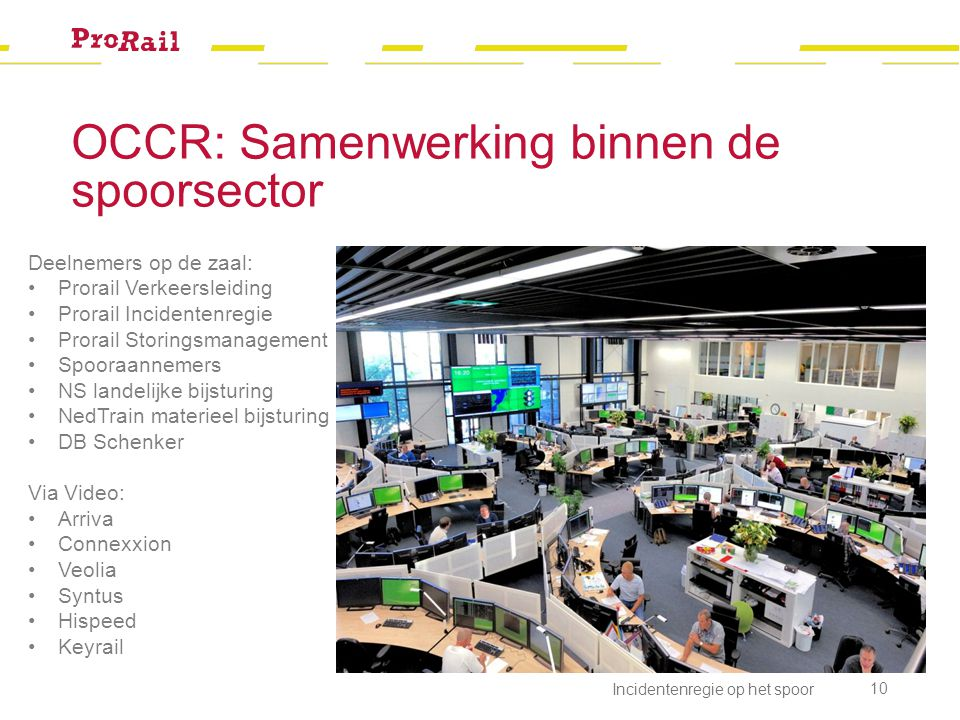 OCCR: Samenwerking binnen de spoorsector
