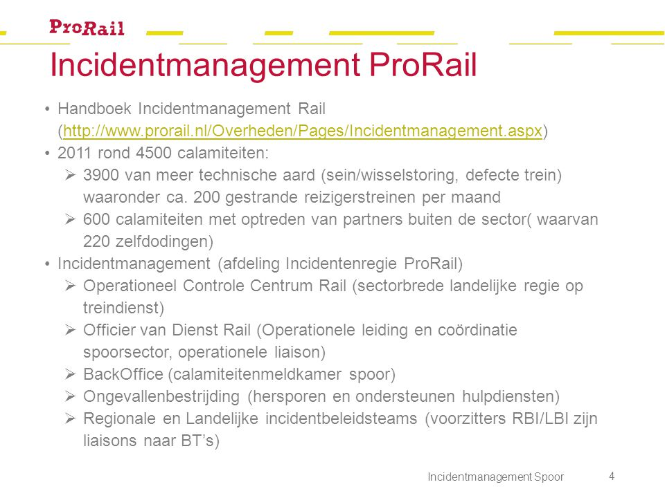 Incidentmanagement ProRail