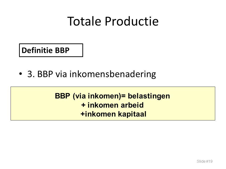 BBP (via inkomen)= belastingen