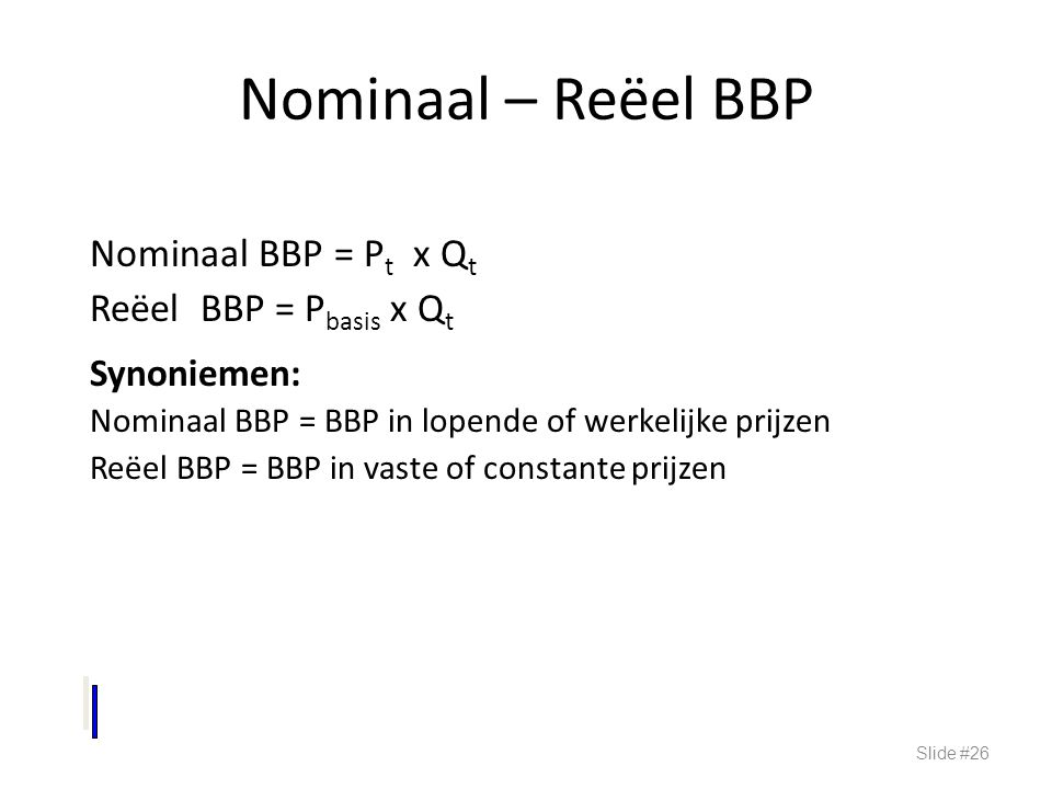 Nominaal – Reëel BBP Synoniemen: