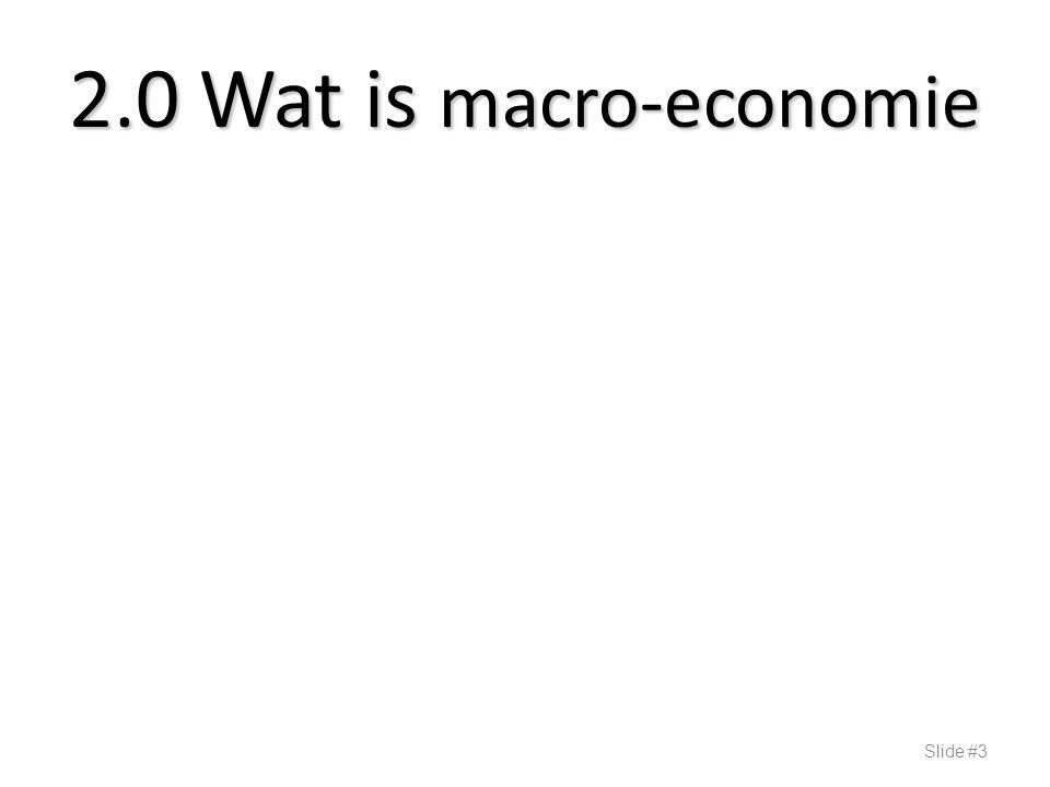 2.0 Wat is macro-economie