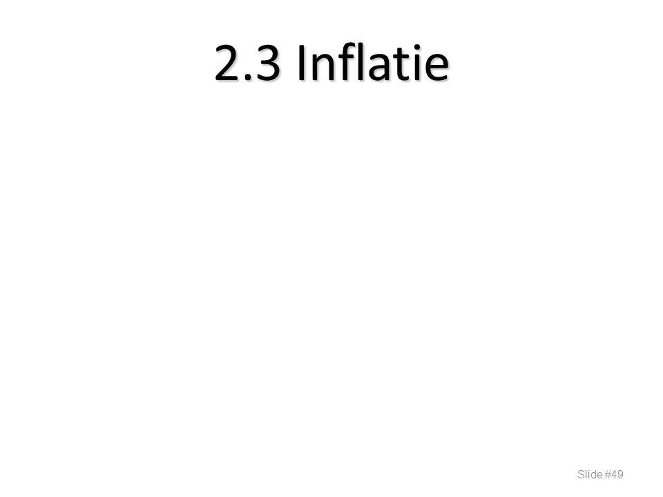 2.3 Inflatie