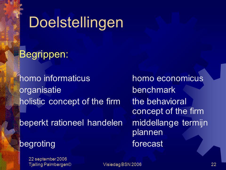 Doelstellingen Begrippen: homo informaticus homo economicus