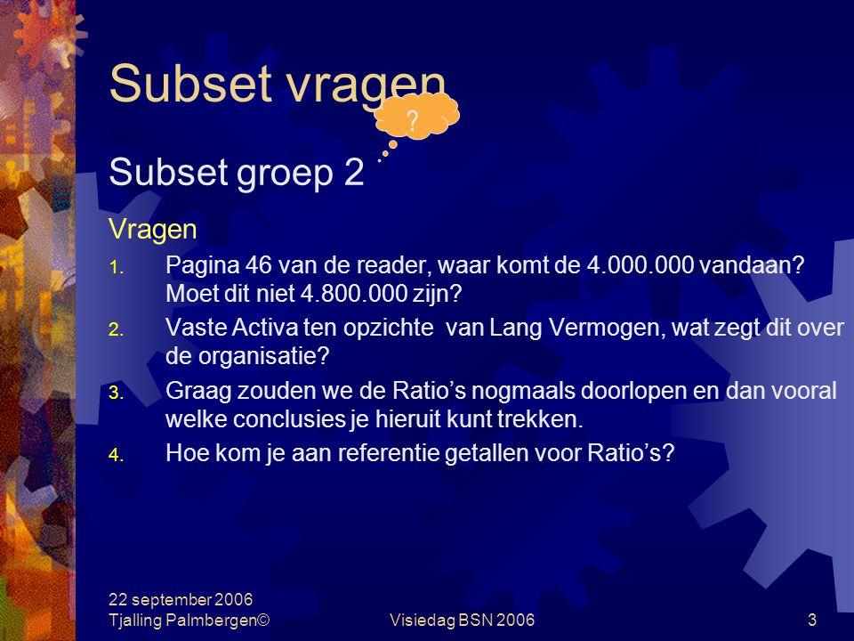 Subset vragen Subset groep 2 Vragen