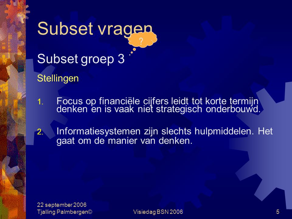Subset vragen Subset groep 3 Stellingen