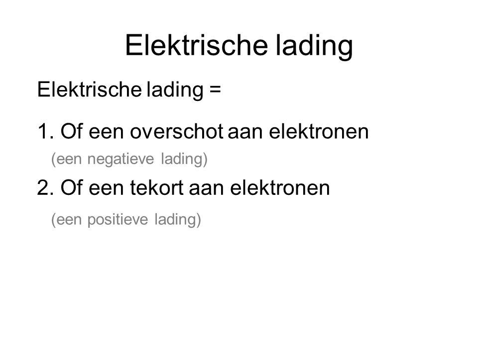 Elektrische lading Elektrische lading =