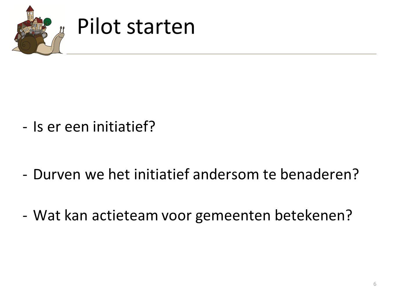 Pilot starten Is er een initiatief