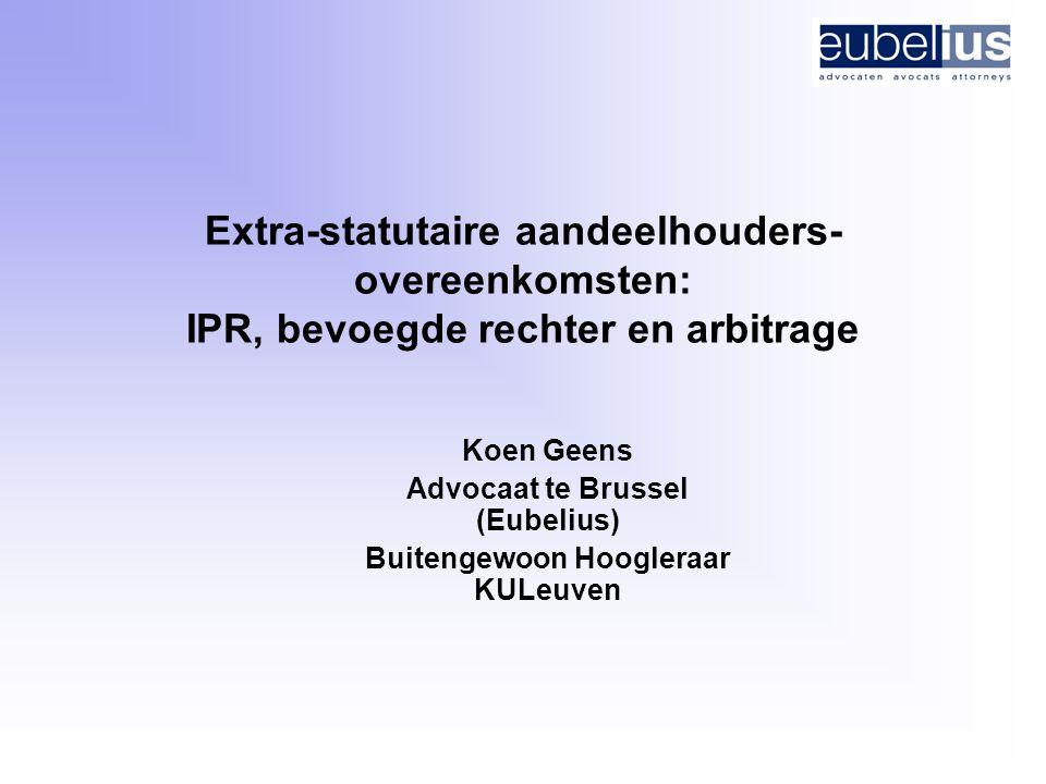 Advocaat te Brussel (Eubelius) Buitengewoon Hoogleraar KULeuven