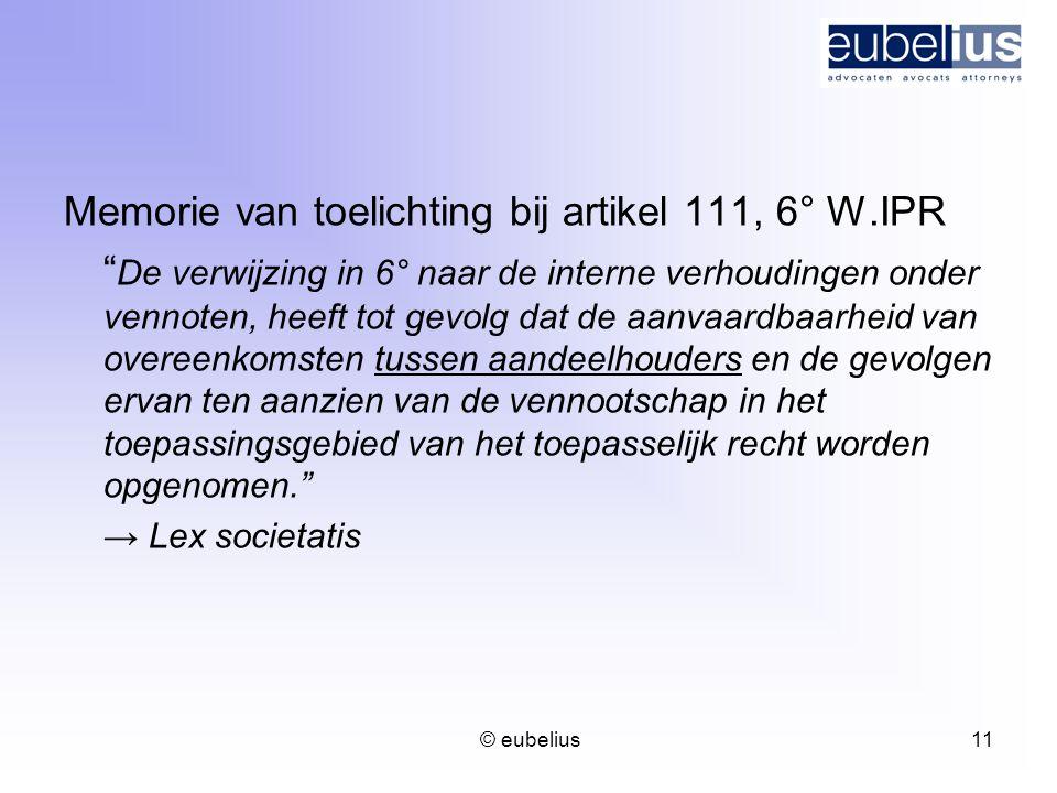 Memorie van toelichting bij artikel 111, 6° W.IPR