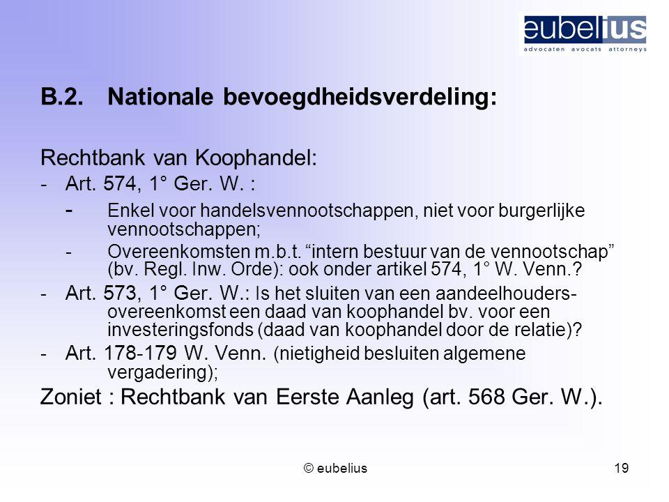 B.2. Nationale bevoegdheidsverdeling: