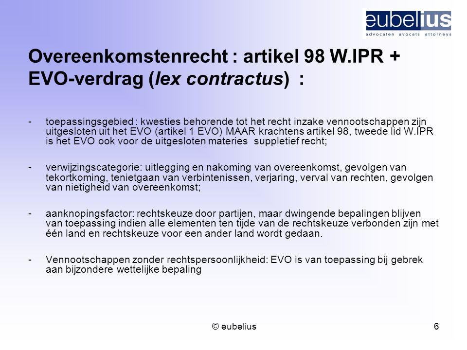 Overeenkomstenrecht : artikel 98 W