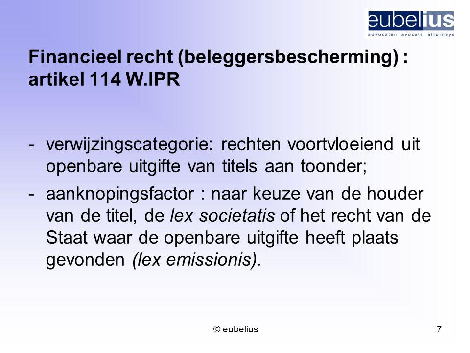 Financieel recht (beleggersbescherming) : artikel 114 W.IPR