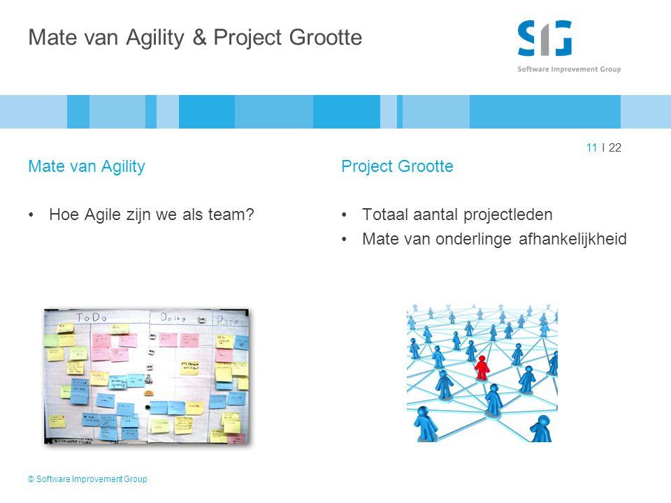 Mate van Agility & Project Grootte
