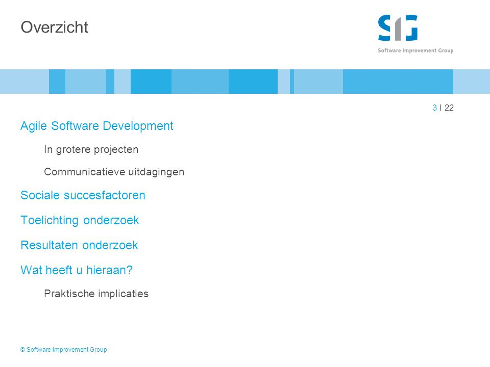 Overzicht Agile Software Development Sociale succesfactoren