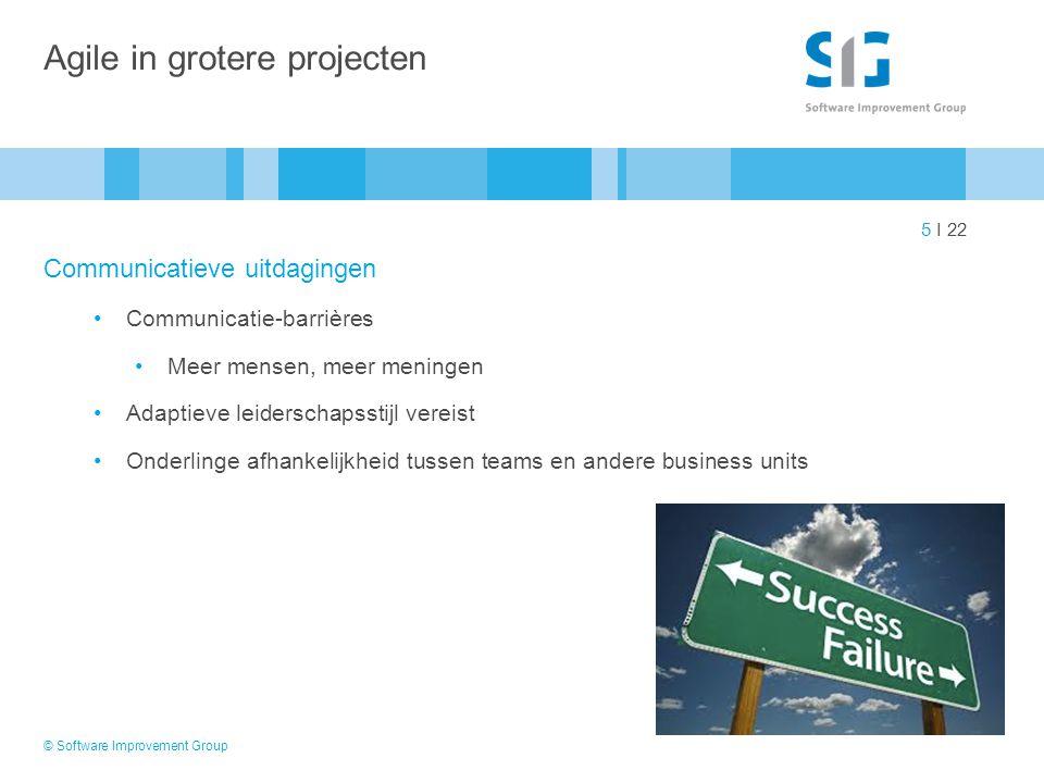 Agile in grotere projecten