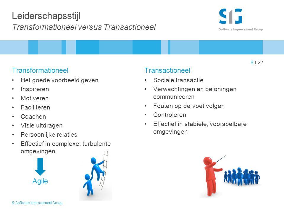Leiderschapsstijl Transformationeel versus Transactioneel