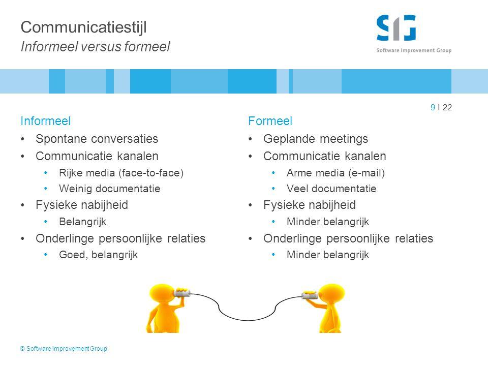 Communicatiestijl Informeel versus formeel