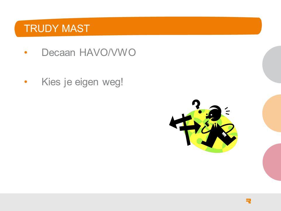 Trudy Mast Decaan HAVO/VWO Kies je eigen weg!