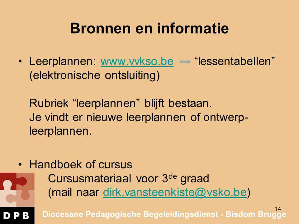 Bronnen en informatie
