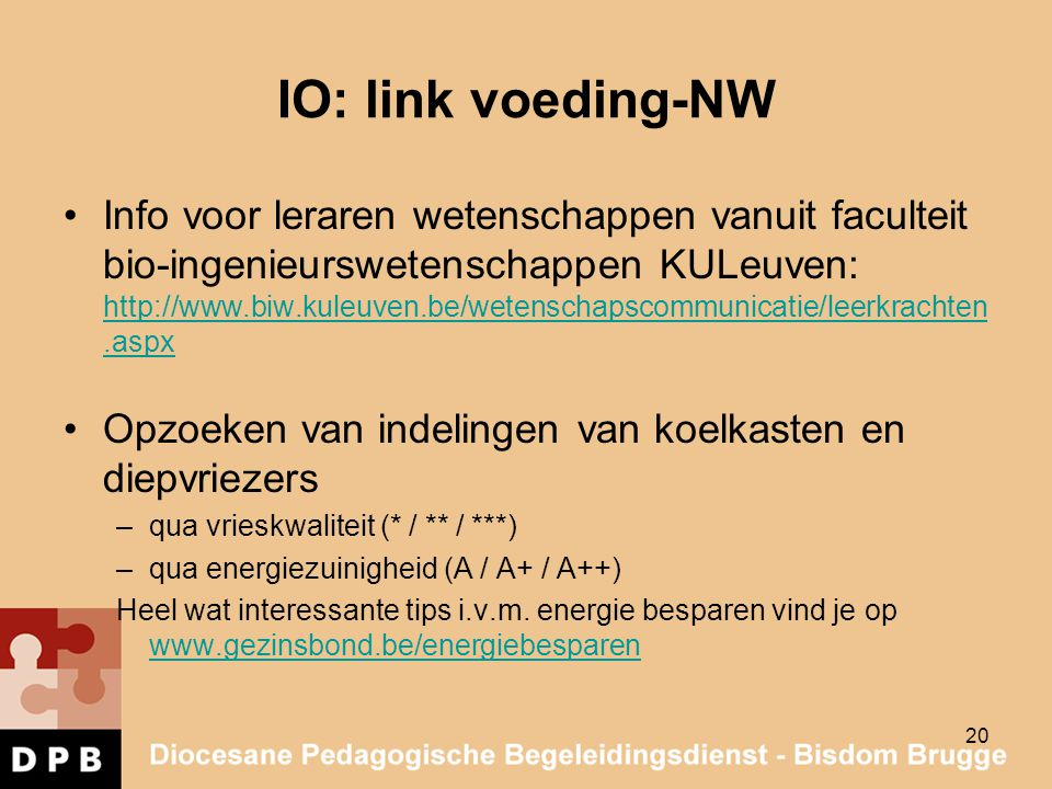 IO: link voeding-NW