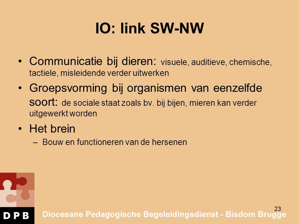 IO: link SW-NW Communicatie bij dieren: visuele, auditieve, chemische, tactiele, misleidende verder uitwerken.