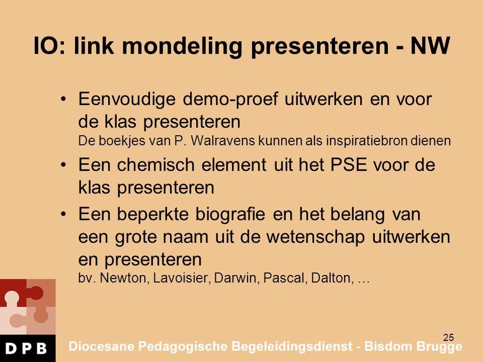 IO: link mondeling presenteren - NW