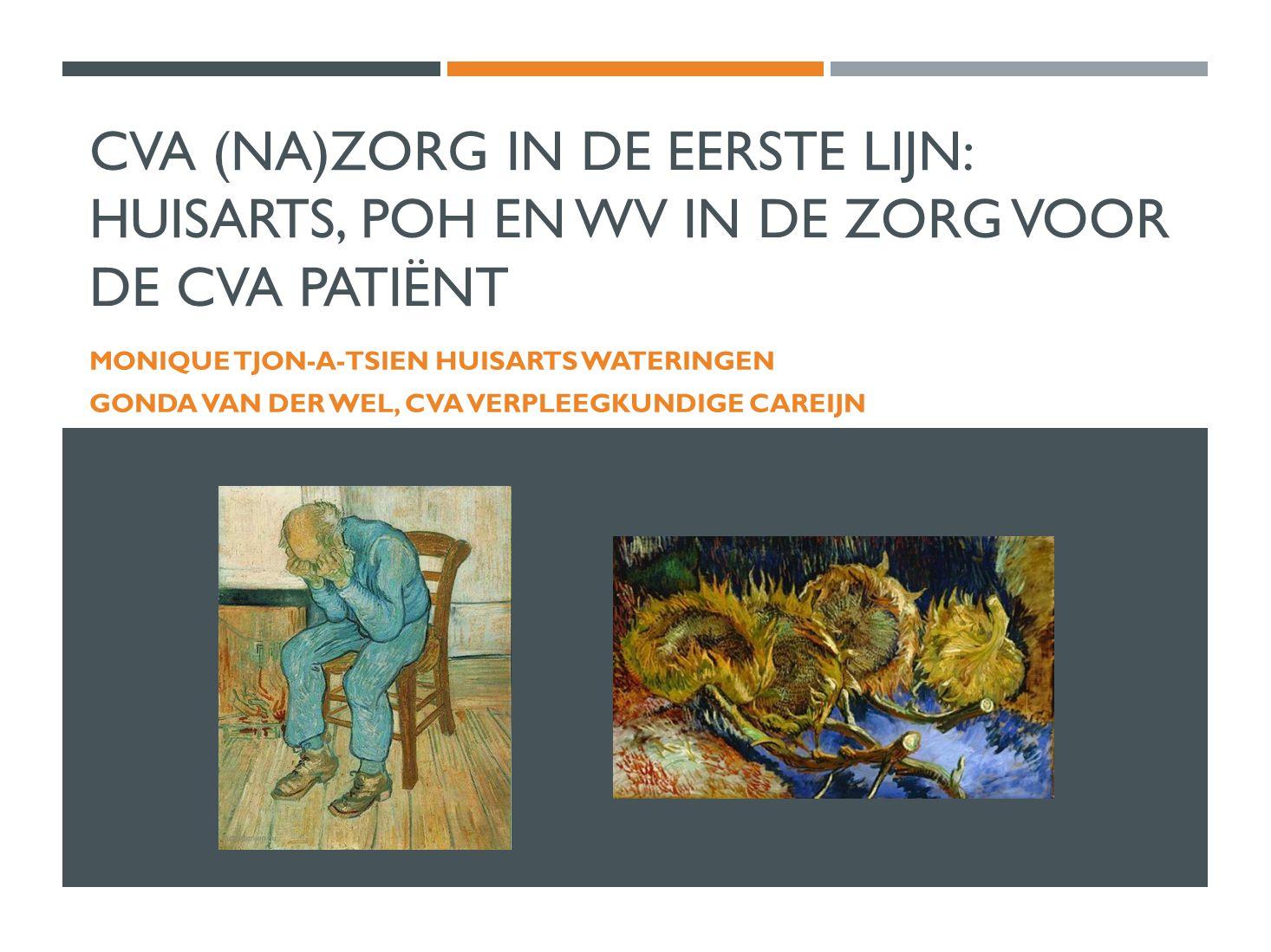 CVA (Na)zorg in de eerste lijn: huisarts, POH en WV in de zorg voor de CVA patiënt
