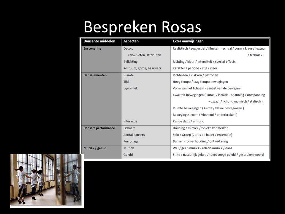 Bespreken Rosas