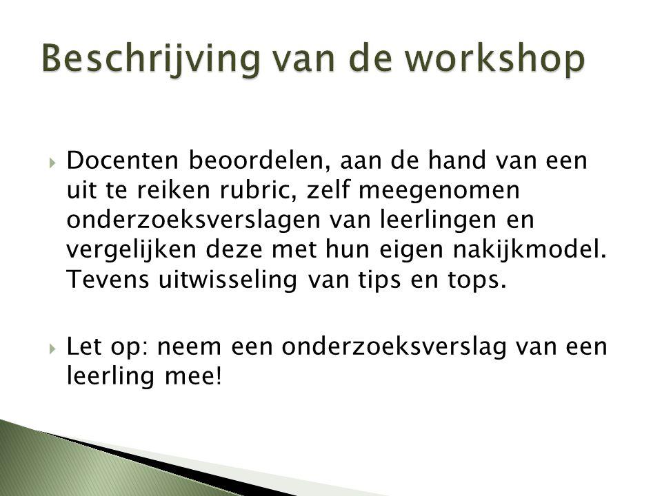 Beschrijving van de workshop
