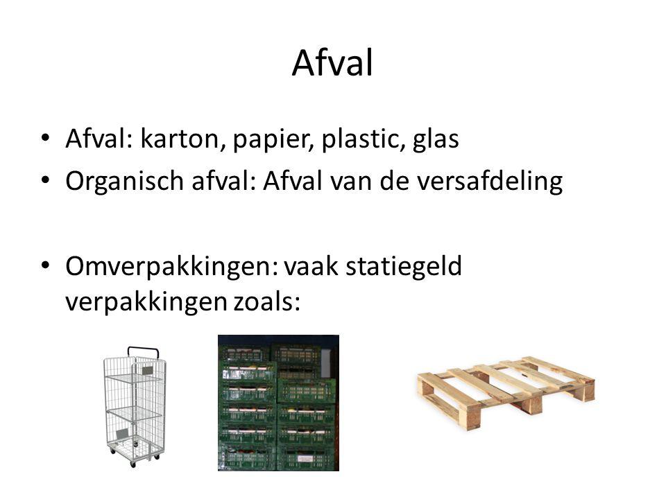 Afval Afval: karton, papier, plastic, glas